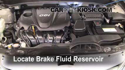 Add Brake Fluid 2011 2015 Hyundai Sonata 2011 Hyundai