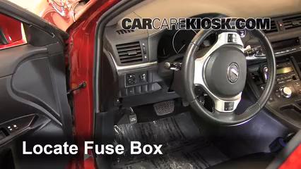 interior fuse box location 2011 2013 lexus ct200h 2011. Black Bedroom Furniture Sets. Home Design Ideas