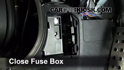 interior fuse box location 2006 2015 mazda mx 5 miata 2011 5 test component secure the cover and test component