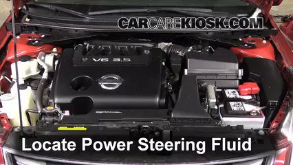 Check Power Steering Level Nissan Altima 2007 2013