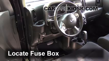 interior fuse box location 2009 2014 nissan cube 2011 nissan cube s 1 8l 4 cyl