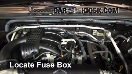 replace a fuse nissan xterra nissan xterra s l v locate engine fuse box and remove cover