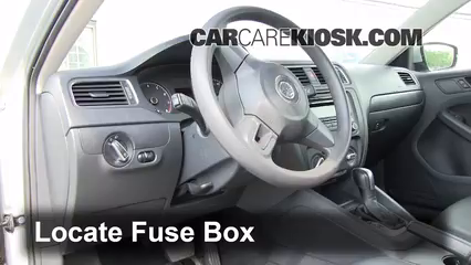 interior fuse box location 2011 2016 volkswagen jetta. Black Bedroom Furniture Sets. Home Design Ideas