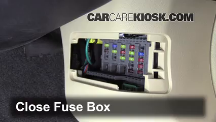 Interior Fuse Box Location 2009 2014 Acura TL 2012