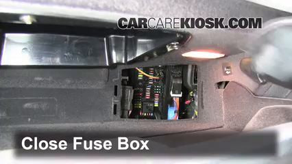 Interior Fuse Box Location 2010 2016 BMW 528i xDrive