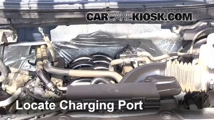 How To Add Refrigerant To A 2009 2014 Ford F 150 2012