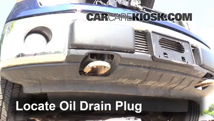 how to drain and clean oil from engine