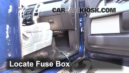 interior fuse box location 2009 2014 ford f 150 2012. Black Bedroom Furniture Sets. Home Design Ideas