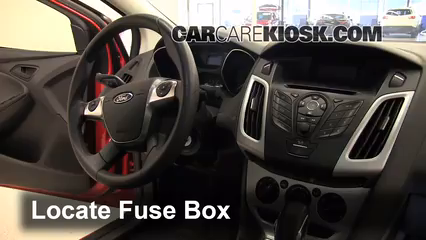 interior fuse box location 2012 2014 ford focus 2012. Black Bedroom Furniture Sets. Home Design Ideas