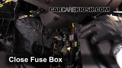 interior fuse box location 2010 2014 ford mustang 2012 ford 5 test component secure the cover and test component