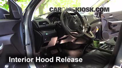 Open Hood How To 20122016 Honda CRV  2012 Honda CRV EXL 24L