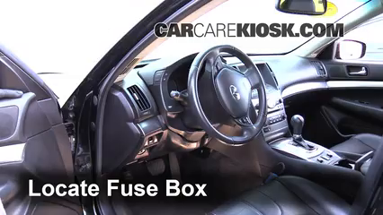 interior fuse box location 2007 2012 infiniti g25 2012. Black Bedroom Furniture Sets. Home Design Ideas