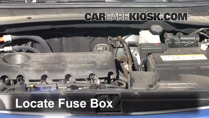 replace a fuse 2011 2016 kia sportage 2012 kia sportage ex 2 4l locate engine fuse box and remove cover