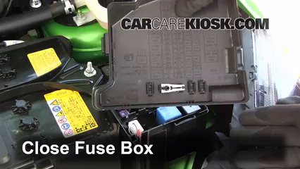 replace a fuse 2011 2014 mazda 2 2012 mazda 2 touring 1 5l 4 6 replace cover secure the cover and test component