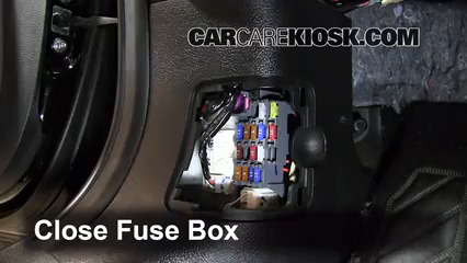 interior fuse box location mazda mazda i  5 test component secure the cover and test component 6