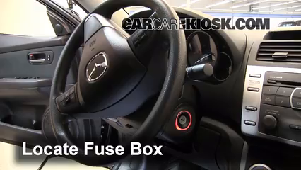interior fuse box location mazda mazda i  locate interior fuse box and remove cover