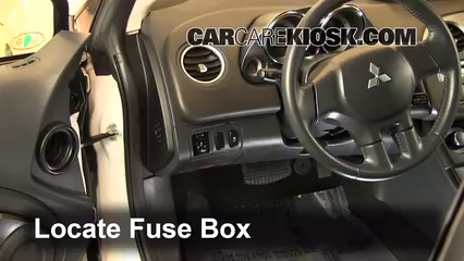 interior fuse box location 2006 2012 mitsubishi eclipse 2012 locate interior fuse box and remove cover