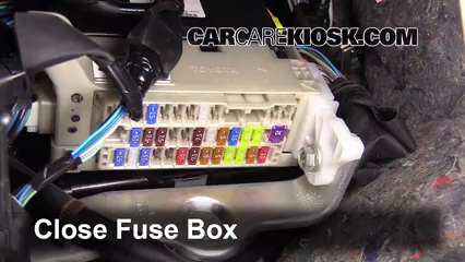 Interior Fuse Box Location 2012 2015 Toyota Prius C