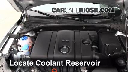 how to add coolant volkswagen passat 2012 2016 2012 volkswagen passat s 2 5l 5 cyl sedan. Black Bedroom Furniture Sets. Home Design Ideas