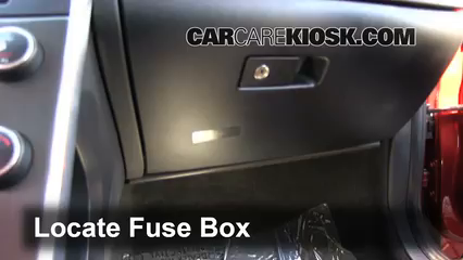 interior fuse box location 2011 2016 volvo s60 2012 volvo s60 locate interior fuse box and remove cover