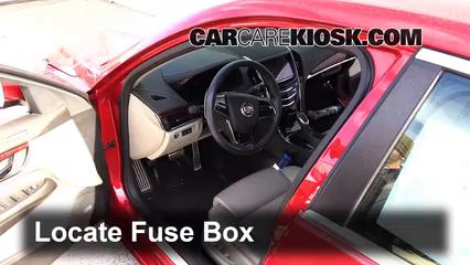 interior fuse box location 2013 2016 cadillac ats 2013 cadillac ats performance 3 6l v6 flexfuel. Black Bedroom Furniture Sets. Home Design Ideas