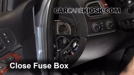 interior fuse box location 2007 2013 chevrolet suburban 1500 interior fuse box location 2007 2013 chevrolet suburban 1500 2009 chevrolet suburban 1500 ls 5 3l v8 flexfuel