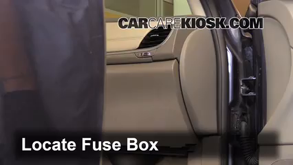 interior fuse box location 2013 2016 chevrolet traverse 2013 locate interior fuse box and remove cover