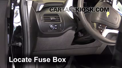 interior fuse box location chevrolet volt  interior fuse box location 2011 2015 chevrolet volt 2013 chevrolet volt 1 4l 4 cyl
