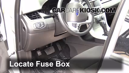 2011 2014 ford edge interior fuse check 2013 ford edge sel 3 5l v6 locate interior fuse box and remove cover