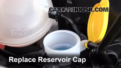 how to put washer fluid in car