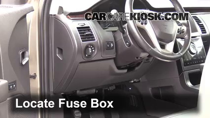 interior fuse box location 2009 2016 ford flex 2013. Black Bedroom Furniture Sets. Home Design Ideas