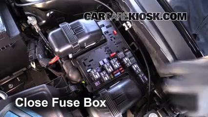 replace a fuse 2013 2016 ford fusion 2013 ford fusion se 2 0l 4 2014 Ford Fusion Hybrid Engine Fuse Box 6 replace cover secure the cover and test component 2014 ford fusion hybrid fuse box