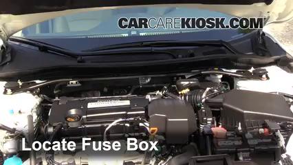 2013 Honda Accord EX L 2.4L 4 Cyl. Sedan%2FFuse Engine Part 1 replace a fuse 2013 2016 honda accord 2013 honda accord ex l 2013 honda accord fuse box at gsmx.co