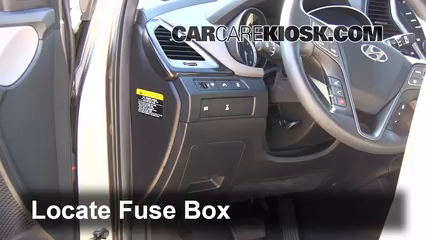Interior Fuse Box Location  20132016 Hyundai    Santa       Fe
