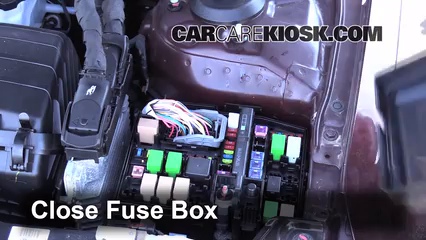 replace a fuse 2011 2016 kia optima 2011 kia optima ex 2 4l 4 cyl 6 replace cover secure the cover and test component