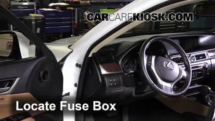 interior fuse box location 2013 2016 lexus gs350 2013. Black Bedroom Furniture Sets. Home Design Ideas