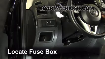 interior fuse box location 2013 2016 mazda cx 5 2013 mazda cx 5 sport 2 0l 4 cyl