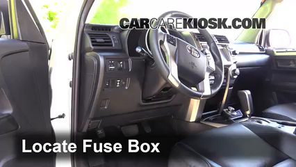 Interior Fuse Box Location  20102016 Toyota    4Runner