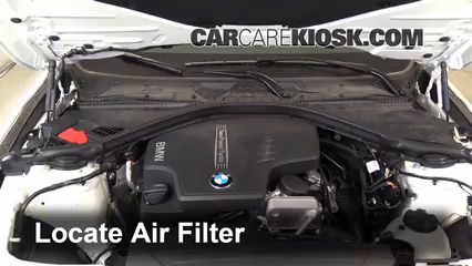 Air Filter How To 2012 2016 BMW 320i 2014 BMW 320i 2 0L