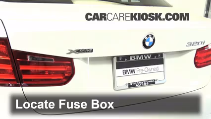 interior fuse box location 2012 2016 bmw 320i 2014 bmw 320i 2 0 locate interior fuse box and remove cover