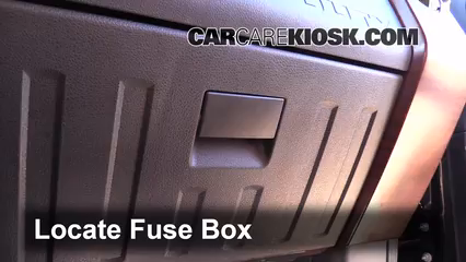 interior fuse box location ford f super duty  locate interior fuse box and remove cover