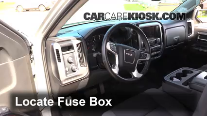 interior fuse box location gmc sierra gmc interior fuse box location 2014 2016 gmc sierra 1500 2014 gmc sierra 1500 sle 4 3l v6 flexfuel crew cab pickup