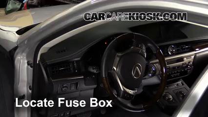 interior fuse box location 2013 2016 lexus es350 2014 lexus es350 3 5l v6. Black Bedroom Furniture Sets. Home Design Ideas
