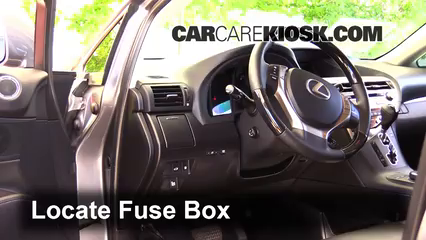 interior fuse box location 2010 2015 lexus rx350 2014 lexus locate interior fuse box and remove cover