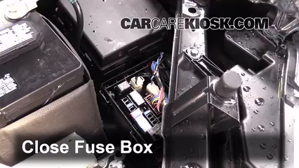 replace a fuse nissan rogue nissan rogue sl l 6 replace cover secure the cover and test component