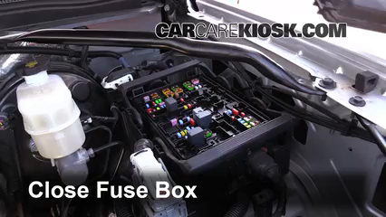 replace a fuse chevrolet suburban chevrolet 6 replace cover secure the cover and test component