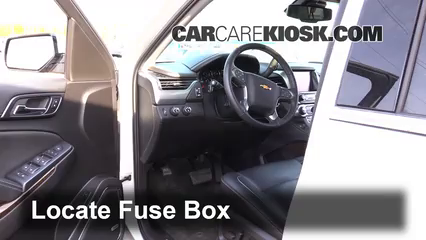 interior fuse box location chevrolet suburban  interior fuse box location 2014 2016 chevrolet suburban 2015 chevrolet suburban lt 5 3l v8 flexfuel