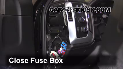 Interior Fuse Box Location 2014 2016 GMC Sierra 2500 HD