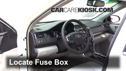 interior fuse box location 2015 2016 toyota camry 2015. Black Bedroom Furniture Sets. Home Design Ideas