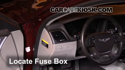 interior fuse box location 2015 2016 hyundai genesis 2016 hyundai genesis 3 8 3 8l v6. Black Bedroom Furniture Sets. Home Design Ideas